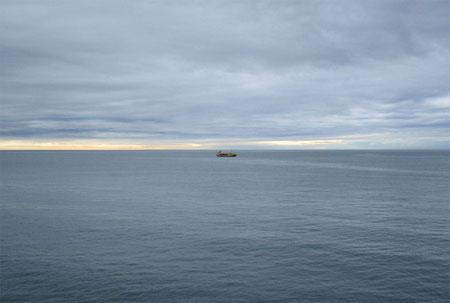 Una barca di fronte al golfo di Camogli