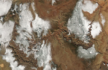 Snow on the Grand Canyon | Nasa Earth Observatory