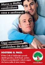 Il manifesto gay della campagna, esistono anche le versioni lesbo ed etero