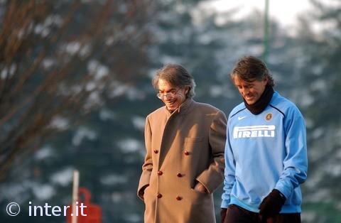 Moratti e Mancini