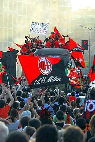 Striscione del Milan