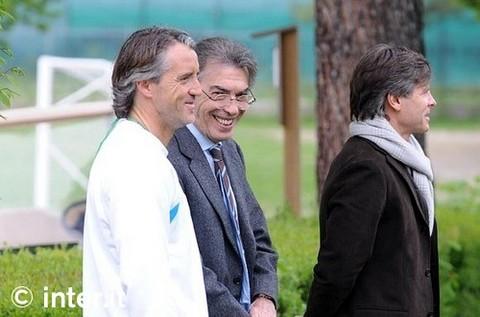 APPIANO GENTILE - Massimo Moratti con Roberto Mancini e Gabriele Oriali
