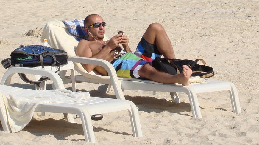 Marmaz in spiaggia a Dubai